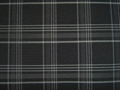 VW Golf Mk7 Black/Grey Tartan Foam Backed Fabric - Seconds F1420
