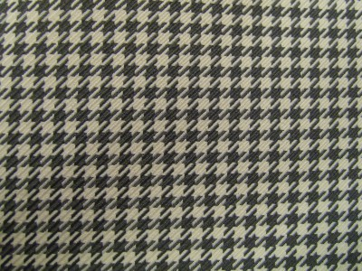 Porsche 911 1972 Black/Cream Patterned Seconds Fabric F1461