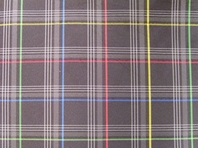 VW Polo Multi Coloured Tartan Foam Backed Fabric - Seconds F1467