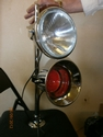 Chrome Tunnel Lamp and Horn Set