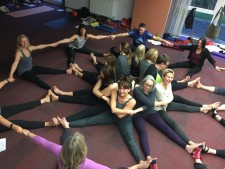 Yoga in a circle