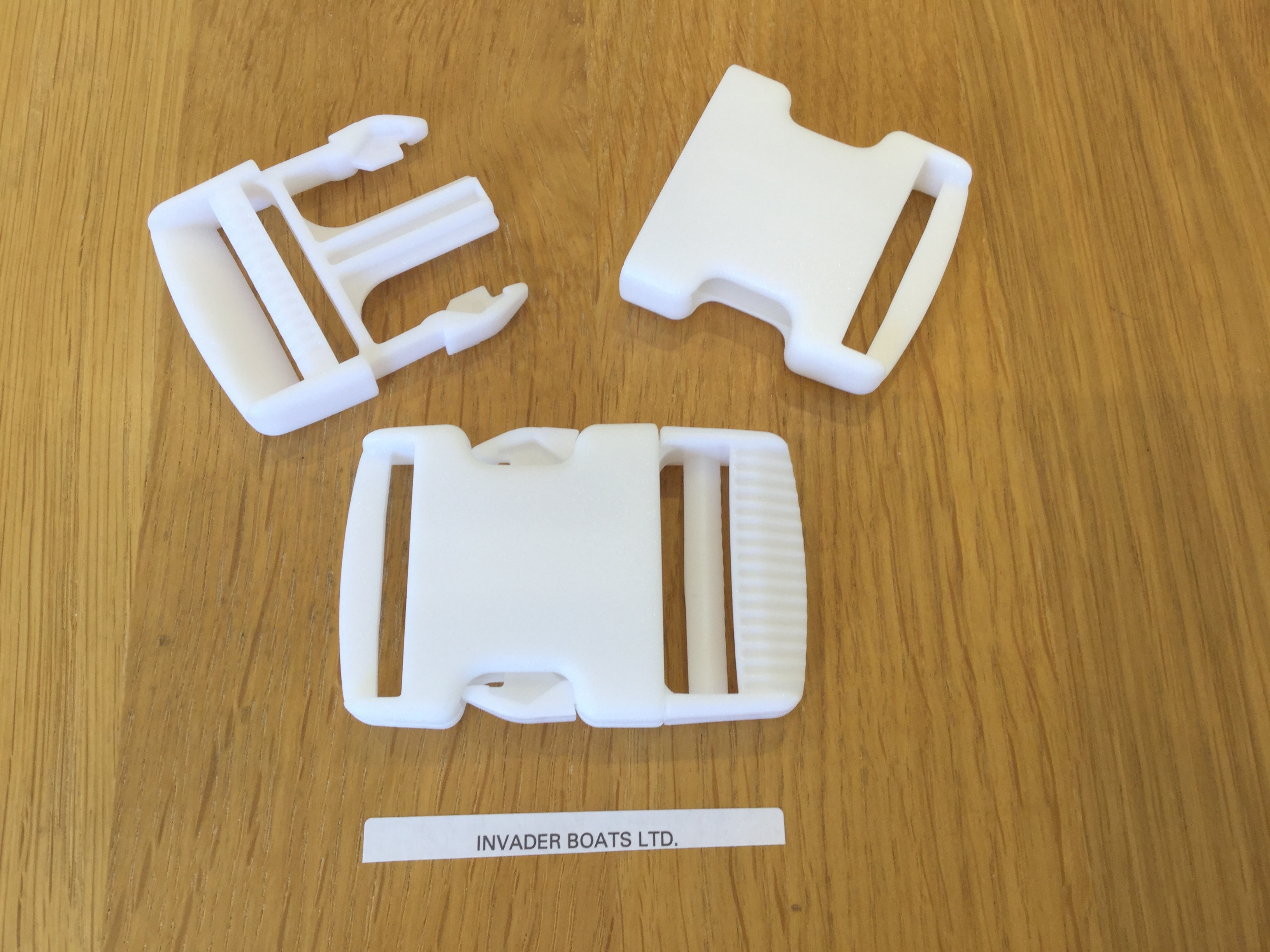 38mm White Side Release Buckle