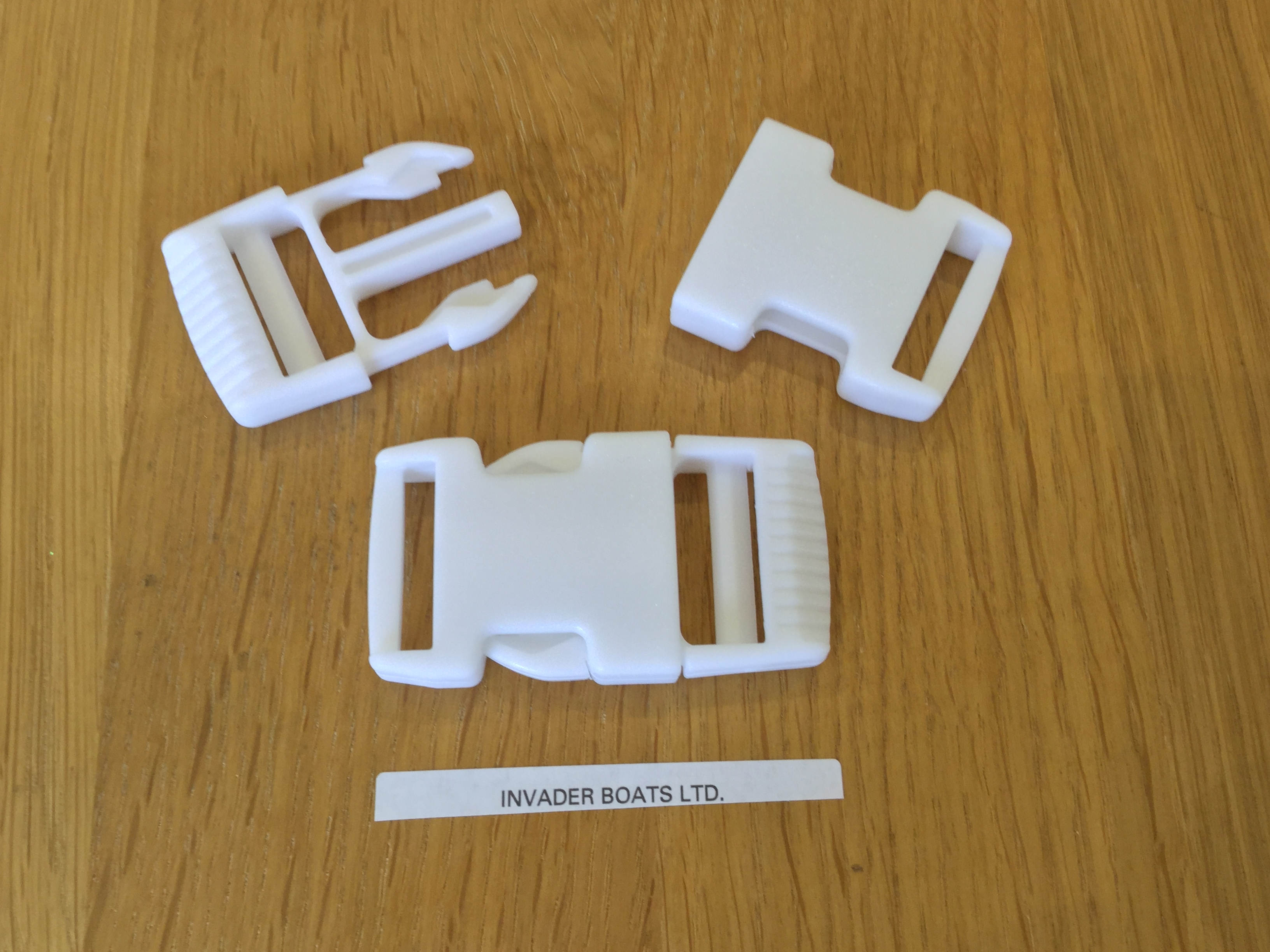 25mm White Side Release Buckle