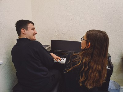 Piano duet at AS Music School