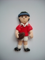 rugby player wedding cake topper rugby player fimo topper flat back shop wedding 19465