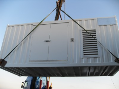Off shore Container painting, wet spray, blasting, blast cleaning