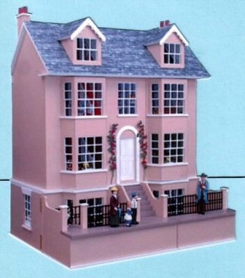 The grove dolls house, shown with basement
