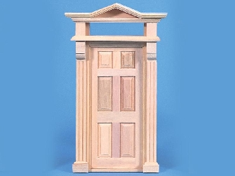 Dolls house external wooden door