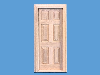 Miniature 6 panel Georgian wooden door