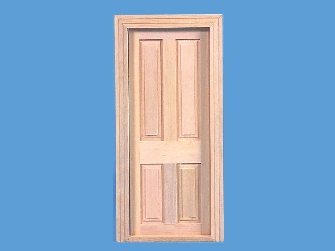Miniature 4 panel Victorian/Edwardian wooden door