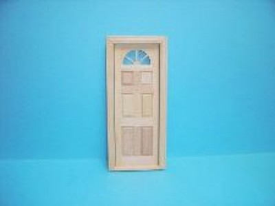 Dolls house wooden exterior door [Carolina door]