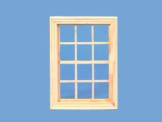 Dolls house wooden window, Georgian