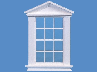Dolls house window, Georgian, white finish