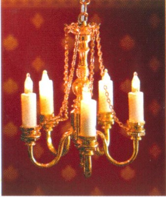 Dolls house 5 arm chains palace chandelier