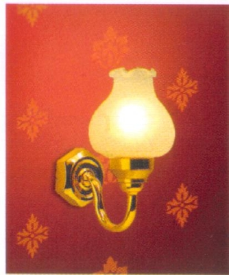 Fancy large tulip wall light