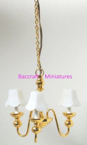 3 arm chandelier, matches wall light