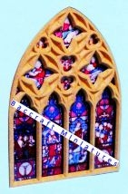 Miniature church Nave end window sheet