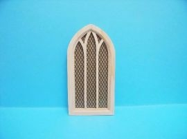 church window with lattice acrylic