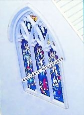 Miniature church Nave end window sheet.
