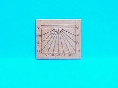 Dolls house church tower sundial