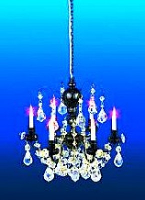 Blackened gold real crystal chandelier(6arm)