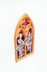 Miniature church stained glass window sheet