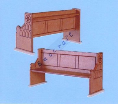 Miniature church pews [set of 4]