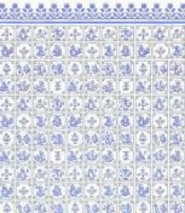 12 scale Delft kitchen paper