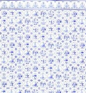 Blue Delft kitchen paper