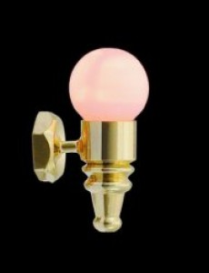 24 scale dolls house globe wall light
