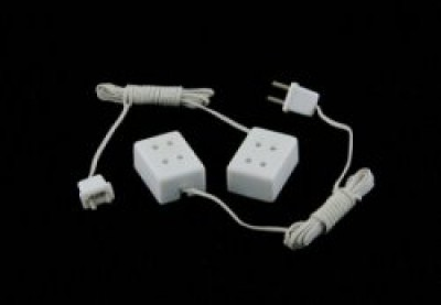 24 scale miniature wall socket, 2 pack
