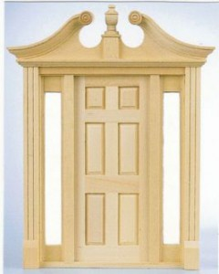 Deerfield exterior wooden door
