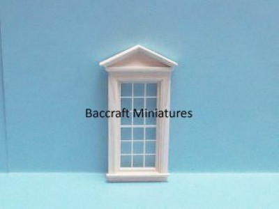 Dolls house window, Georgian with portico top