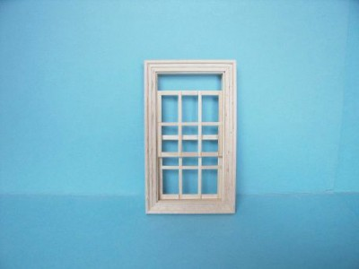 Dolls house working sash window, wooden.