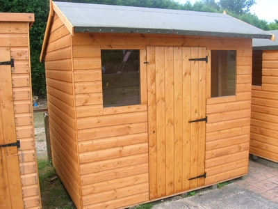 7 x 5 shiplap hipex budget overlap sheds shed centre for Garden shed 7 x 3
