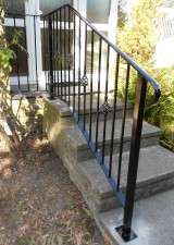 Metal Handrails to front door