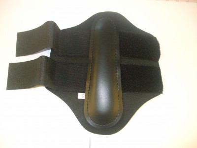 Black Velcro Neoprene with Elastic Inserts Brushing Boots