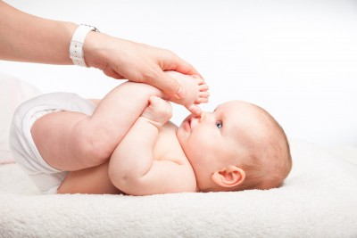 Baby Yoga ~ note baby's are fully clothed in classes!