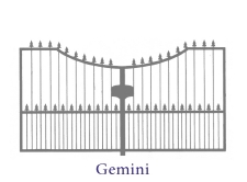10ft Pair Of Gemini Metal Gates Black Painted