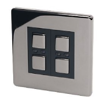 2g 1w Dimmer Switch Black Nickel 250w