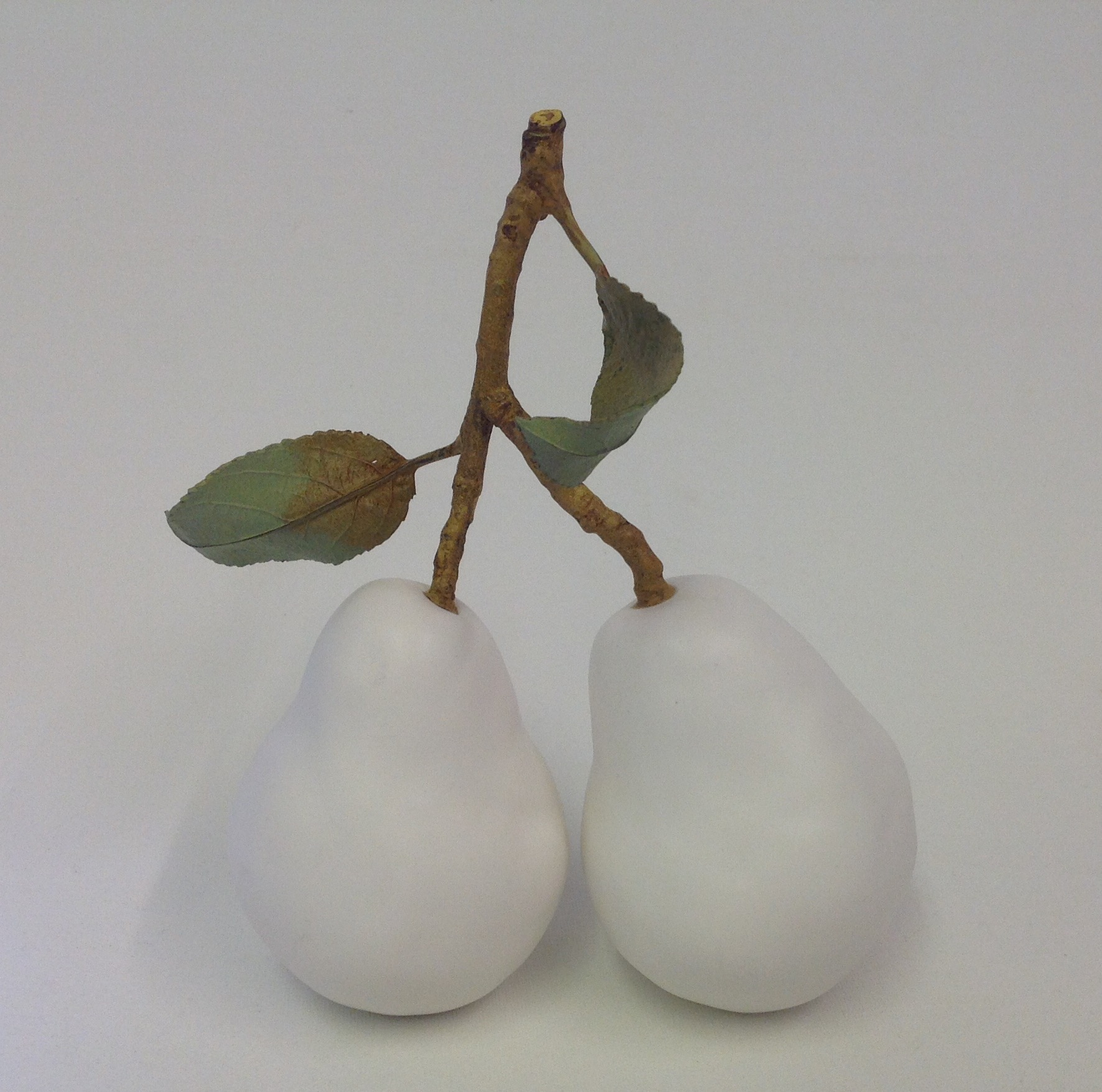 Double Pear with medium twig & two leaves