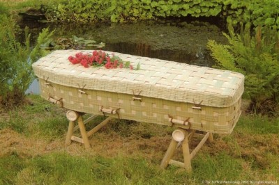 Bamboo Lattice Coffin