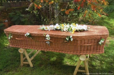 Wicker Coffin - English Wicker Available