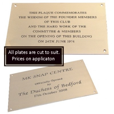 Brass Building Plates Engraved
