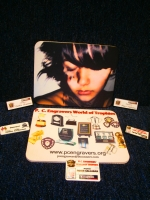 Printed Badges and Mouse Mats made to order