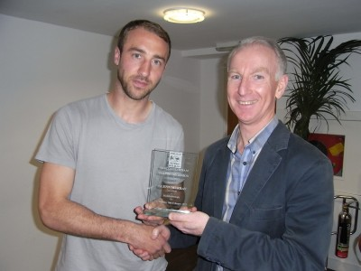 Glen Murry presented with Goal of the season from Radio Palace