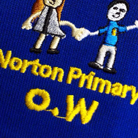 ZCNPRBSWCA260 Norton Primary Royal Blue Girls Sweat Cardigan : from £13.99