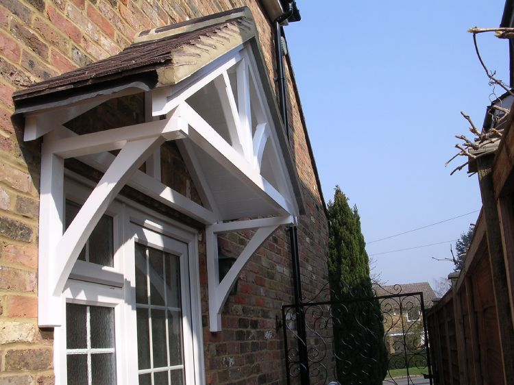 & Timber door canopies- traditional cottage canopies - front door canopies