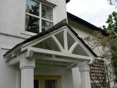 Timber door canopies- traditional cottage canopies - front door canopies & Timber door canopies- traditional cottage canopies - front door ...
