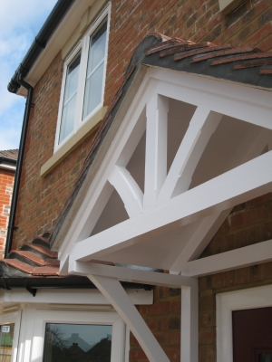 Genial Front Door Canopy_curved Brace Detail